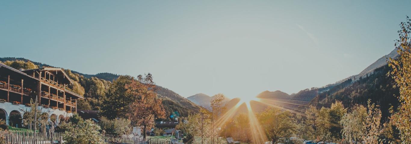 Aussenansicht Sonnenaufgang